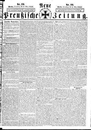 Neue preußische Zeitung on Mar 29, 1859
