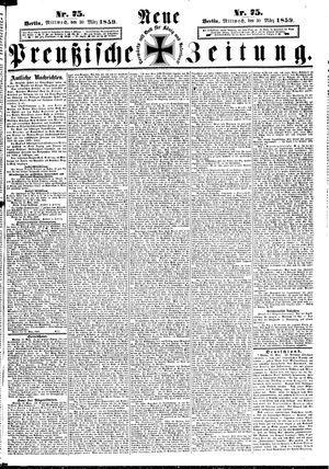 Neue preußische Zeitung vom 30.03.1859