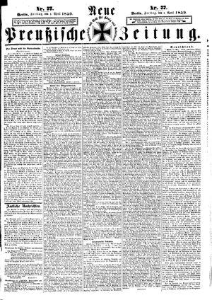 Neue preußische Zeitung vom 01.04.1859