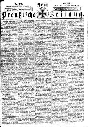 Neue preußische Zeitung vom 03.04.1859