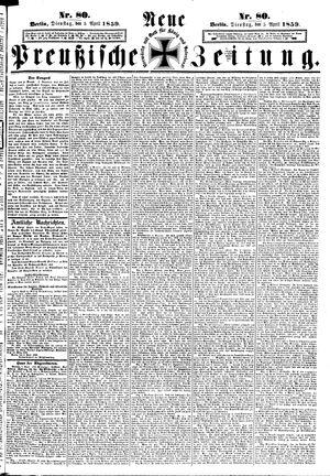 Neue preußische Zeitung vom 05.04.1859