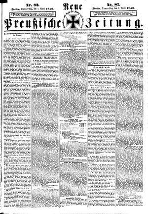 Neue preußische Zeitung vom 07.04.1859