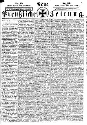 Neue preußische Zeitung vom 08.04.1859