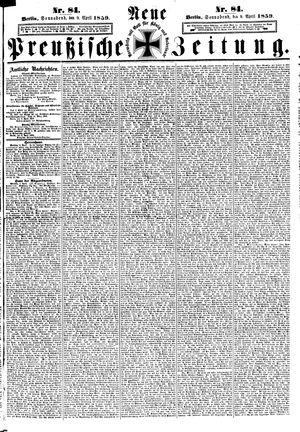 Neue preußische Zeitung vom 09.04.1859