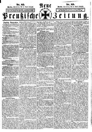 Neue preußische Zeitung vom 10.04.1859