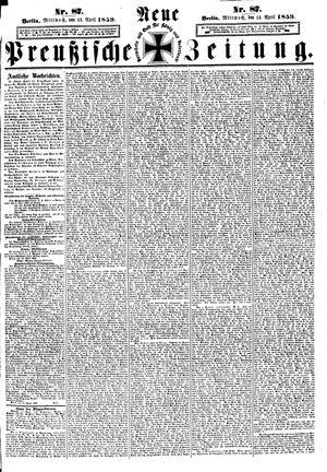 Neue preußische Zeitung vom 13.04.1859