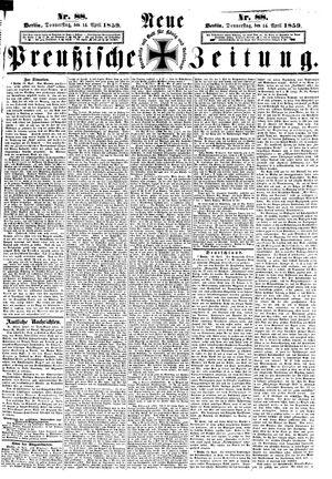 Neue preußische Zeitung vom 14.04.1859