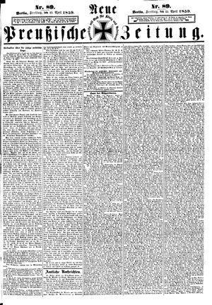 Neue preußische Zeitung on Apr 15, 1859