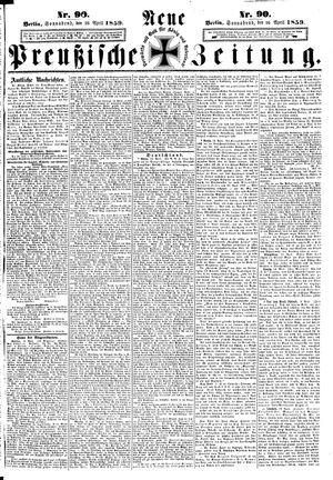 Neue preußische Zeitung vom 16.04.1859