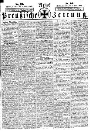 Neue preußische Zeitung vom 17.04.1859