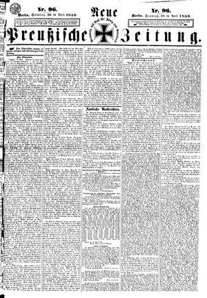 Neue preußische Zeitung vom 24.04.1859