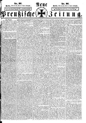 Neue preußische Zeitung vom 27.04.1859