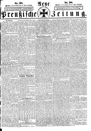 Neue preußische Zeitung on Apr 28, 1859