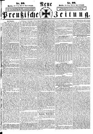 Neue preußische Zeitung vom 29.04.1859