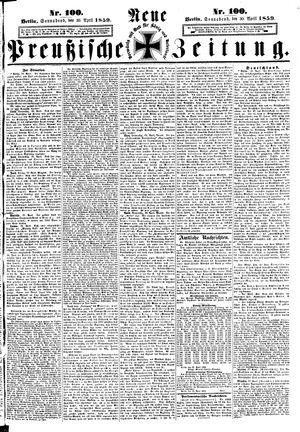 Neue preußische Zeitung vom 30.04.1859