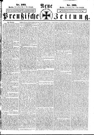 Neue preußische Zeitung vom 03.05.1859