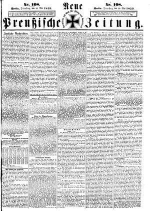 Neue preußische Zeitung vom 10.05.1859