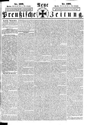 Neue preußische Zeitung vom 11.05.1859