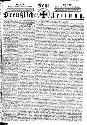 Neue preußische Zeitung vom 12.05.1859
