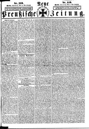 Neue preußische Zeitung vom 15.05.1859