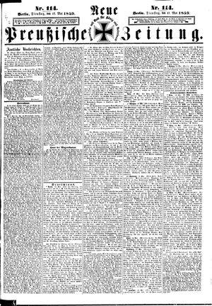 Neue preußische Zeitung vom 17.05.1859