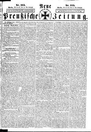 Neue preußische Zeitung vom 18.05.1859