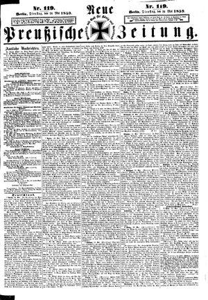 Neue preußische Zeitung on May 24, 1859
