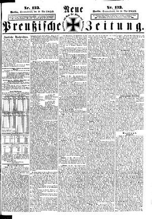 Neue preußische Zeitung vom 28.05.1859