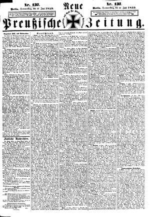 Neue preußische Zeitung vom 16.06.1859