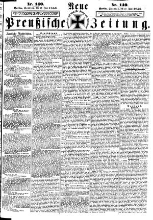 Neue preußische Zeitung vom 19.06.1859
