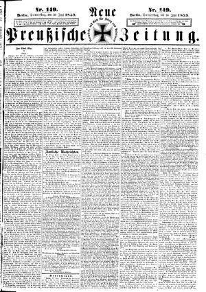 Neue preußische Zeitung vom 30.06.1859