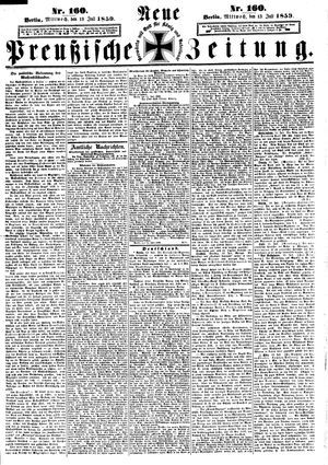 Neue preußische Zeitung vom 13.07.1859