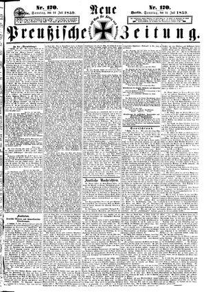 Neue preußische Zeitung vom 24.07.1859
