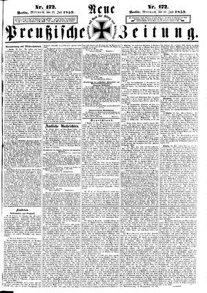 Neue preußische Zeitung on Jul 27, 1859