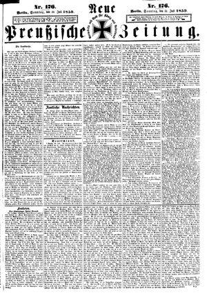 Neue preußische Zeitung vom 31.07.1859