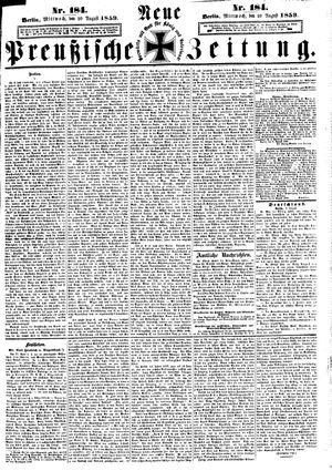 Neue preußische Zeitung vom 10.08.1859