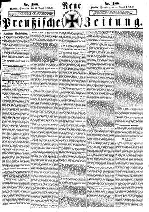 Neue preußische Zeitung vom 14.08.1859