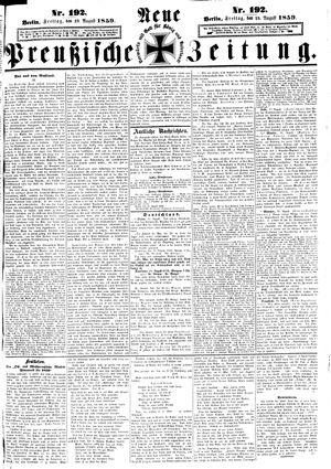 Neue preußische Zeitung vom 19.08.1859