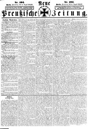 Neue preußische Zeitung vom 21.08.1859