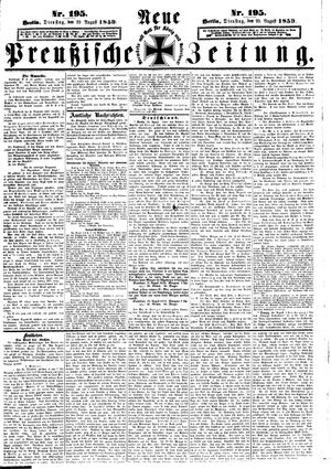 Neue preußische Zeitung vom 23.08.1859