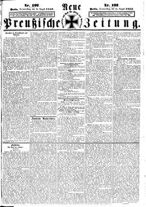 Neue preußische Zeitung vom 25.08.1859