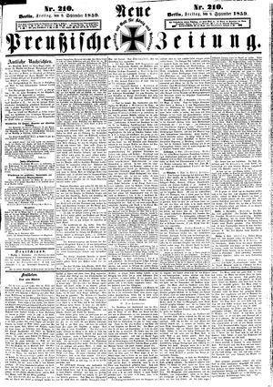 Neue preußische Zeitung vom 09.09.1859