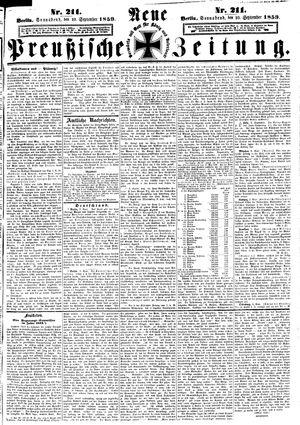 Neue preußische Zeitung vom 10.09.1859