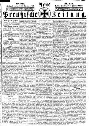 Neue preußische Zeitung vom 11.09.1859