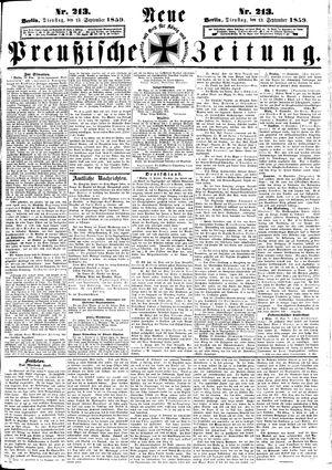 Neue preußische Zeitung vom 13.09.1859