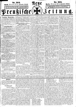 Neue preußische Zeitung vom 14.09.1859