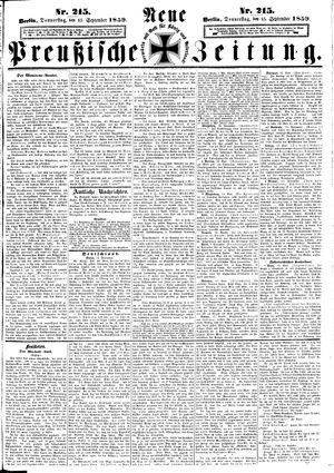Neue preußische Zeitung vom 15.09.1859