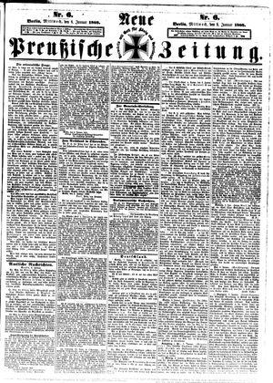 Neue preußische Zeitung vom 08.01.1868