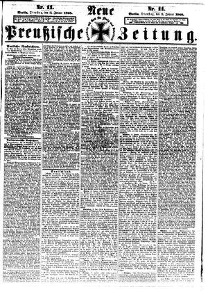 Neue preußische Zeitung on Jan 14, 1868