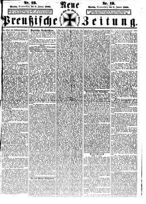 Neue preußische Zeitung vom 16.01.1868